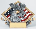 Resin Diamond Plate Eagle Eagle Trophies
