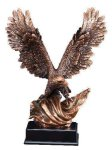 Bronze Eagle With Flag Eagle Trophies