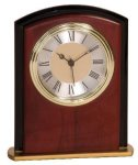 Mahogany Finish Square Arch Clock Award Economy clocks