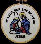 Manger Christmas Ornament 2 Embroidered Christmas Ornaments