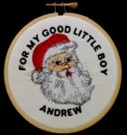 Santa Christmas Ornament Embroidered Christmas Ornaments