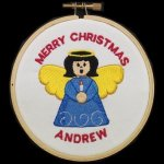 Angel Christmas Ornament 1 Embroidered Christmas Ornaments