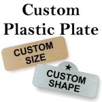 Custom Plastic Engraved Plate Engraved Plates