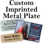 Custom Imprinted Plate Engraved Plates