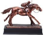 Resin Horse And Jockey Equestrian Trophies