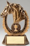 Antique Gold Horse Head Equestrian Trophies