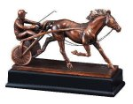Race Horse and Sulky Equestrian Trophy Awards