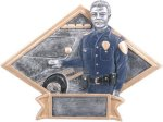 Law Enforcement Diamond Plate Resin Fire and Safety Trophies