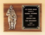 Fireman Plaque with Antique Bronze Finish Casting. Fireman Plaques and Police Plaques