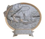 Legend Bass Fishing Oval Award Fishing Trophies