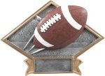 Football Diamond Plate Resin Flag Football Trophies