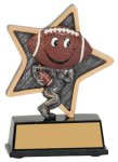 Football Little Pals Resin Trophy Flag Football Trophies