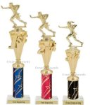 First - Third Place Flag Football Trophies 3 Flag Football