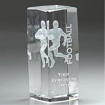 Sport Crystal Football Award Football Trophies