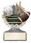 Football Multi Color Sport Resin Figure Football Trophies