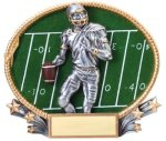 Football 3D Oval Trophy Football Trophies