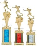First - Third Place Flag Football Trophies 4 Football Trophies