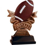 Ribbon Football Resin Football Trophies