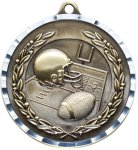 Diamond Cut Football Medal Football Trophies