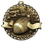 Burst Thru Football Medal Football Trophies