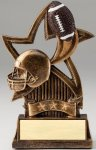 Star Series Sculpted Antique Gold Football Resin Trophy  Football Trophies