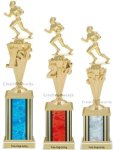 First-Third Place Football Trophy Football Trophy Awards