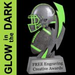 GLOW in the DARK Football Trophy Football Trophy Awards