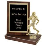 Standing Plaque Football Trophy Awards