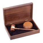 Deluxe Gavel Presentation Set Gavel and Sounding Blocks