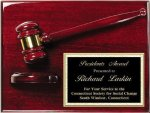 Deluxe Gavel Plaque Gavel and Sounding Blocks