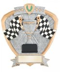 Signature Series Racing Flags Shield Award Go-Kart Trophies