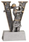 Female Golf V Series Resin Golf Trophies