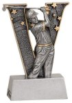 Male Golf V Series Resin Golf Trophies