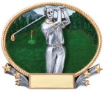 Golf 3D Oval Trophy (Male) Golf Trophies