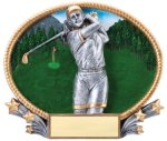 Golf 3D Oval Trophy (Female) Golf Trophies