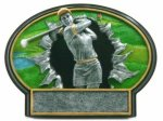 Burst Thru Golf Trophy (Female) Golf Trophies