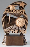 Action Closest To The Pin Trophy Golf Trophies