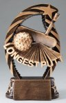 Action Longest Putt Trophy Golf Trophies
