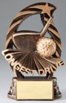 Action Longest Drive Trophy Golf Trophies