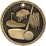 3D Golf Medal Golf Trophies