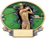 Motion X Oval  Golf Golf Trophies