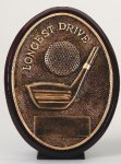 Longest Drive Oval Golf Trophies