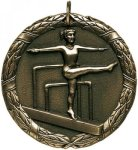 Wreath Female Gymnist Medal Gymnastics Medals