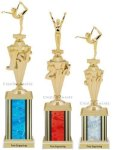 First - Third Place Gymnastics Trophies 4 Gymnastics Trophy Awards