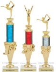 First - Third Place Gymnastics Trophies 2 Gymnastics Trophy Awards