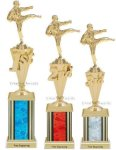 First - Third Place Karate Trophies 4 Karate Trophies
