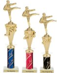 First - Third Place Karate Trophies 3 Karate Trophy Awards