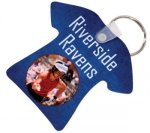 Glossy Aluminum T-Shirt Keychain Key Chains