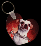 Heart Keychain with Ring and Fastener Key Chains