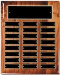 Solid Walnut High Gloss Perpetual Plaque Large Perpetual Plaques